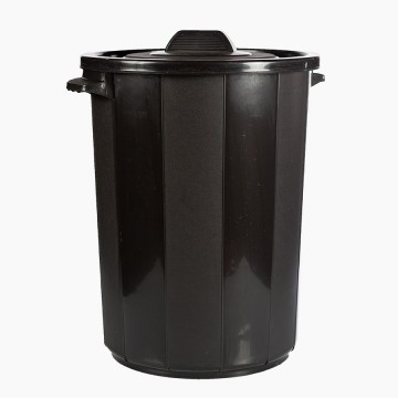 Balde Lixo Ecoponto Preto